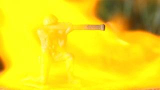 Bazooka Army man with flame