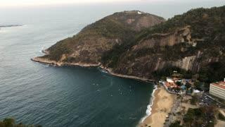 Beach of Praia Vermelha in Rio de Janeiro 4k