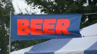 Beer Banner at festival