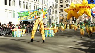 Beginning of Macy's 85th annual parade