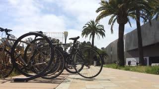 Bicycle rack at San Francisco downtown park.