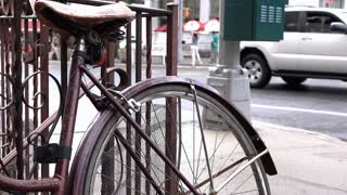 Bike outside of home in New York City 4k