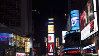 Billboards and flashing signs in downtown New York City Times Square 4k