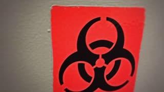 Biohazard sign with danger look