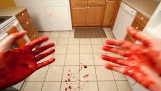 Blood on hands first person perspective