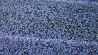Blood splatter on tv static macro