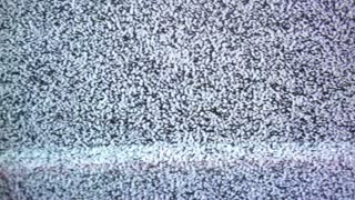 Blood splatters onto tv static