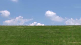 Blue Sky above Green Field