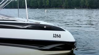 Boat floating near dock