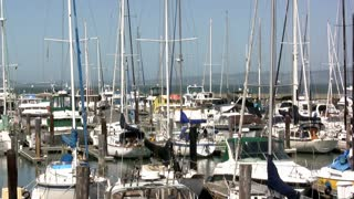 Boats in Harbor Dock of San Fransisco