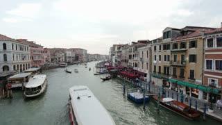Boats in Venice Italy main canal