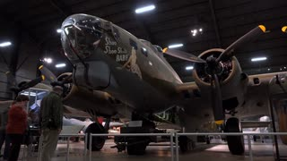 Boeing B-17G flying fortress at WPAFB museum 4k