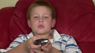 Boy gets upset using TV remote