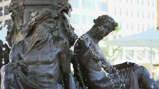 Brewer Fountain in downtown Boston