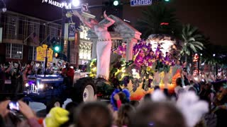 Bride of Dionysus float in mardi gras parade