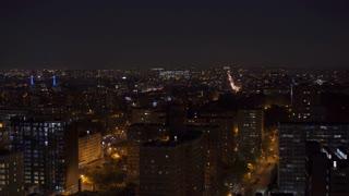 Brooklyn New York skyline seen at night 4k