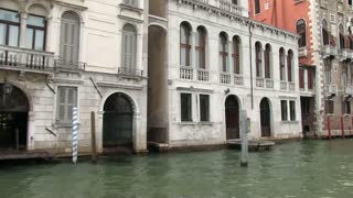 Building in Venice Italy seen from boat