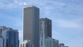 Buildings in downtown Chicago Illinois 4k