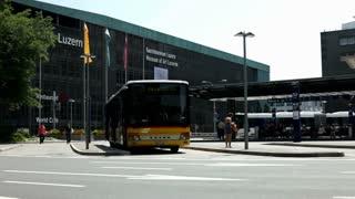 Bus Station in Luzern Switzerland