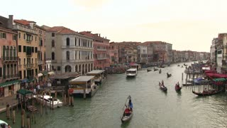 Busy canals of Venice Italy