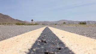Camera in center of Desert Highway