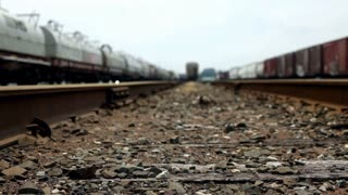 Camera moving between Railroad Tracks