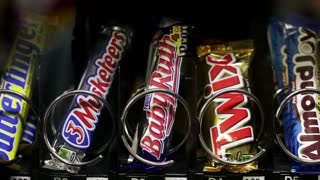 Candy coming out of vending machine