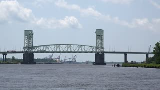 Cape Fear Memorial Bridge in North Carolina 4k