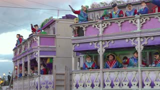 Captain Eddie's S.S. Endymion float in parade