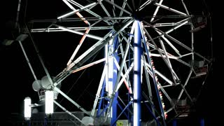 Carnival Ferris Wheel stationary at night