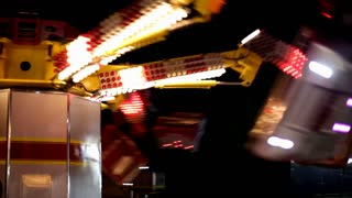 Carnival ride Scrambler at Night