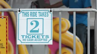 Carnival ride takes 2 Tickets