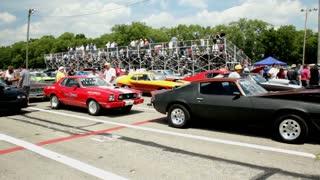 Cars lined up at Kilkare raceway