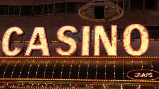 Casino lights attracting gamblers