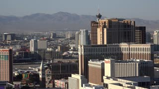 Casino strip of Las Vegas Boulevard seen from above 4k
