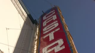 Castro Theater Sign to Street Pan