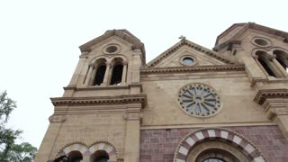 Cathedral Bascilica of Saint Francis of Assisi exterior pan