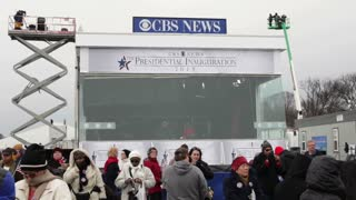 CBS News booth at 2013 inauguration