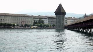 Chapel Bridge (Kapellbrucke) in Luzern Switzerland