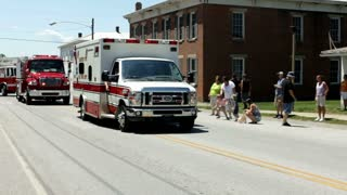 Chester Township ambulance in firemans parade