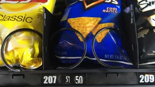 Chips coming out of vending machine