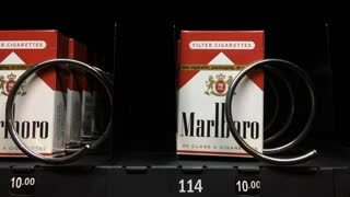 Cigarettes purchased from vending machine