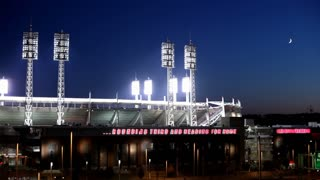 Cincinnati Reds Stadium at Night