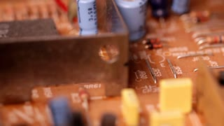 Circuit board macro slider shot