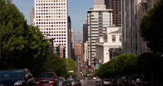 City hills of San Francisco traffic 4k.