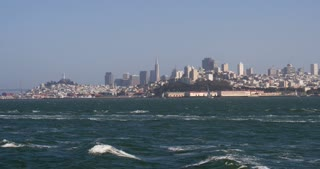 City of San Francisco seen from water 4k