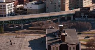 City streets of Downtown Cincinnati 4k