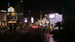 City streets of Las Vegas at night