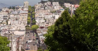 City streets of San Francisco hills 4k