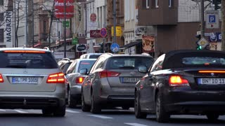 City traffic in Cologne Germany 4k